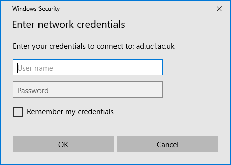 N Drive Username and Password