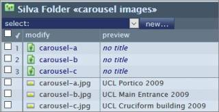 Carousel image folder