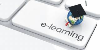Image of a keyboard with an E-Learning button…