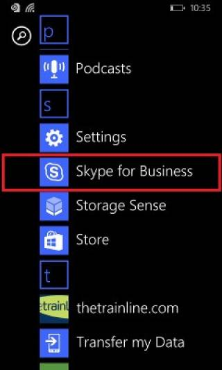 Fig 1. Launching Skype for Business…
