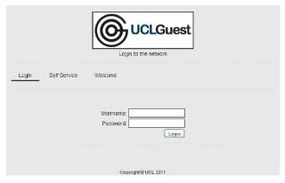 UCLGuest log in page…