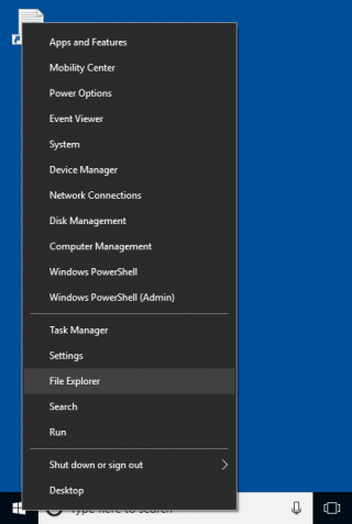 N Drive right click Windows button and select File Explorer
