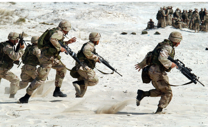Soldiers on the battlefield