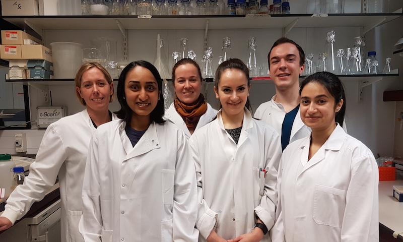 Dr Clare Jolly, Dr Maitreyi Shivkumar, Dr Ann-Kathrin Reuschl, Dr Xenia Snetkov, Dejan Mesner and Tafhima Haider