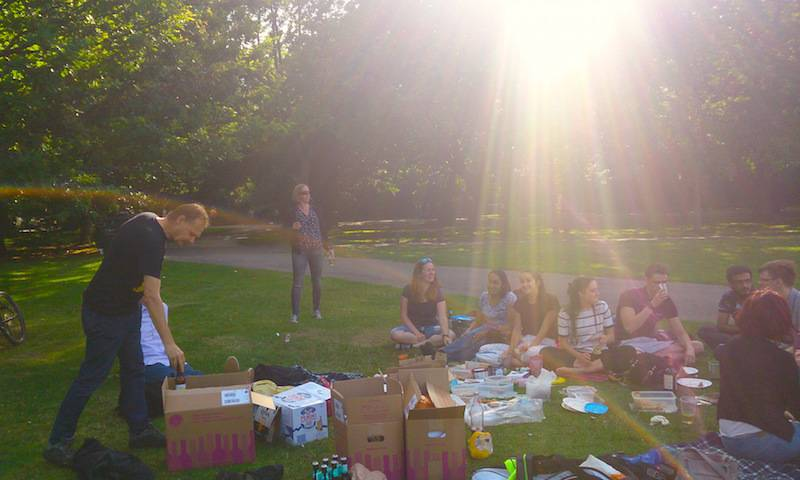 Towers lab picnic in Regent's Park 2017
