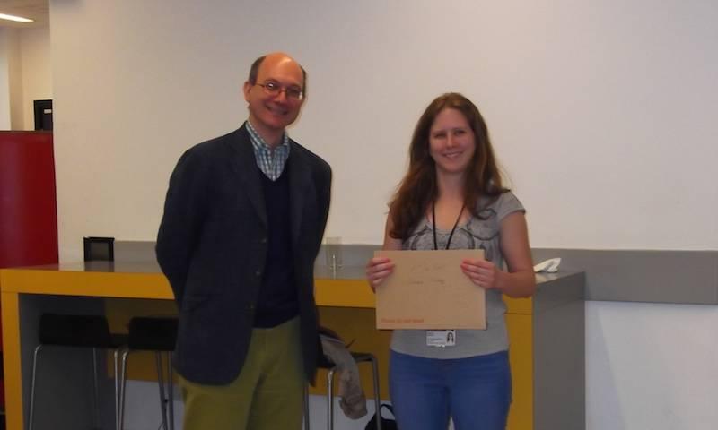 Shimona Starling won 1st prize at the PhD colloquim