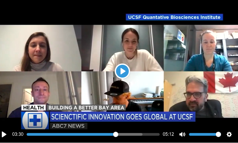 AK, Lucy and Lorena at Krogan/Jolly/Towers lab meeting recorded by ABC News, March 2021