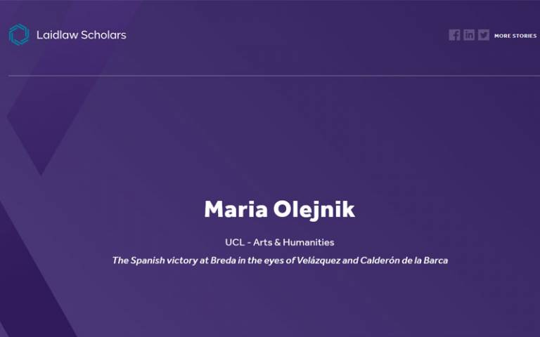 a purple screen with Maria's name on it