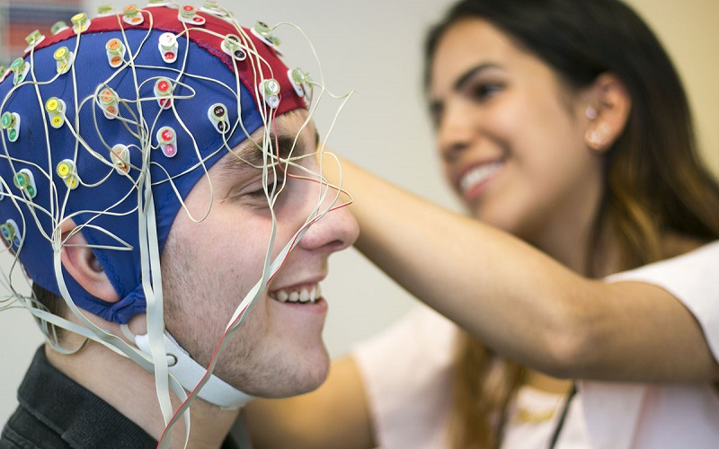 Brain Sciences student taking part in an experiment