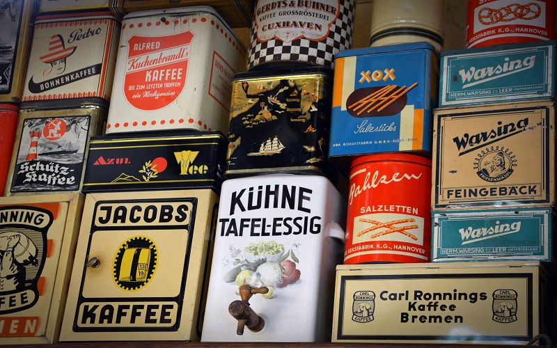 German - coffee containers