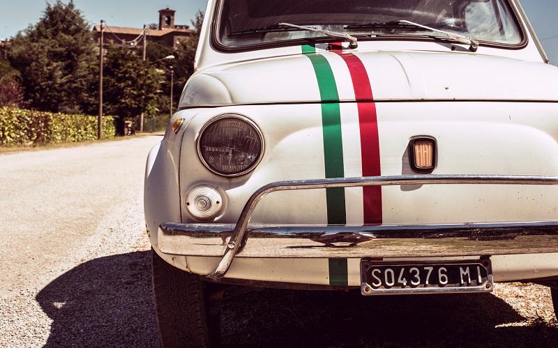 Italian - car with italian flag