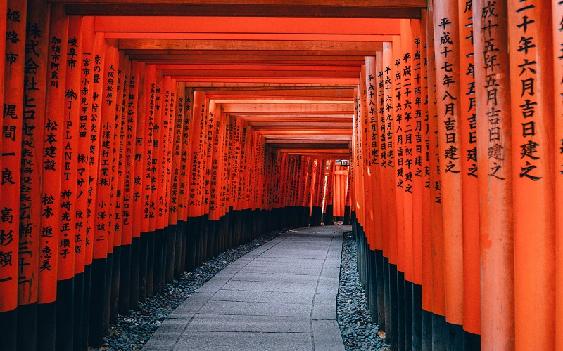 Japanese: Fushimi inari Trail, Japan