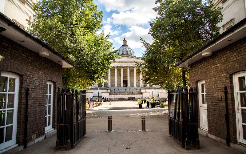Main UCL gates in the summer