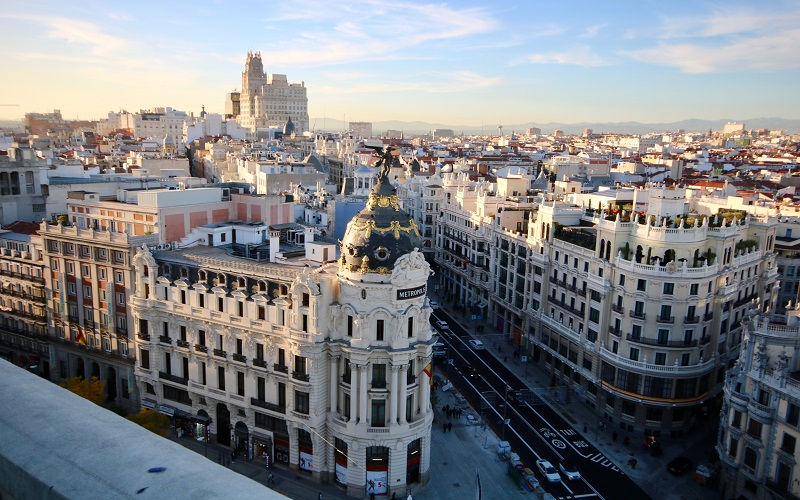 Spanish - arial view of Madrid