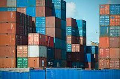 Containers at Rotterdam Port