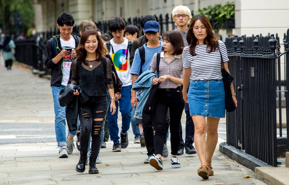 UCL Summer English course students exploring London