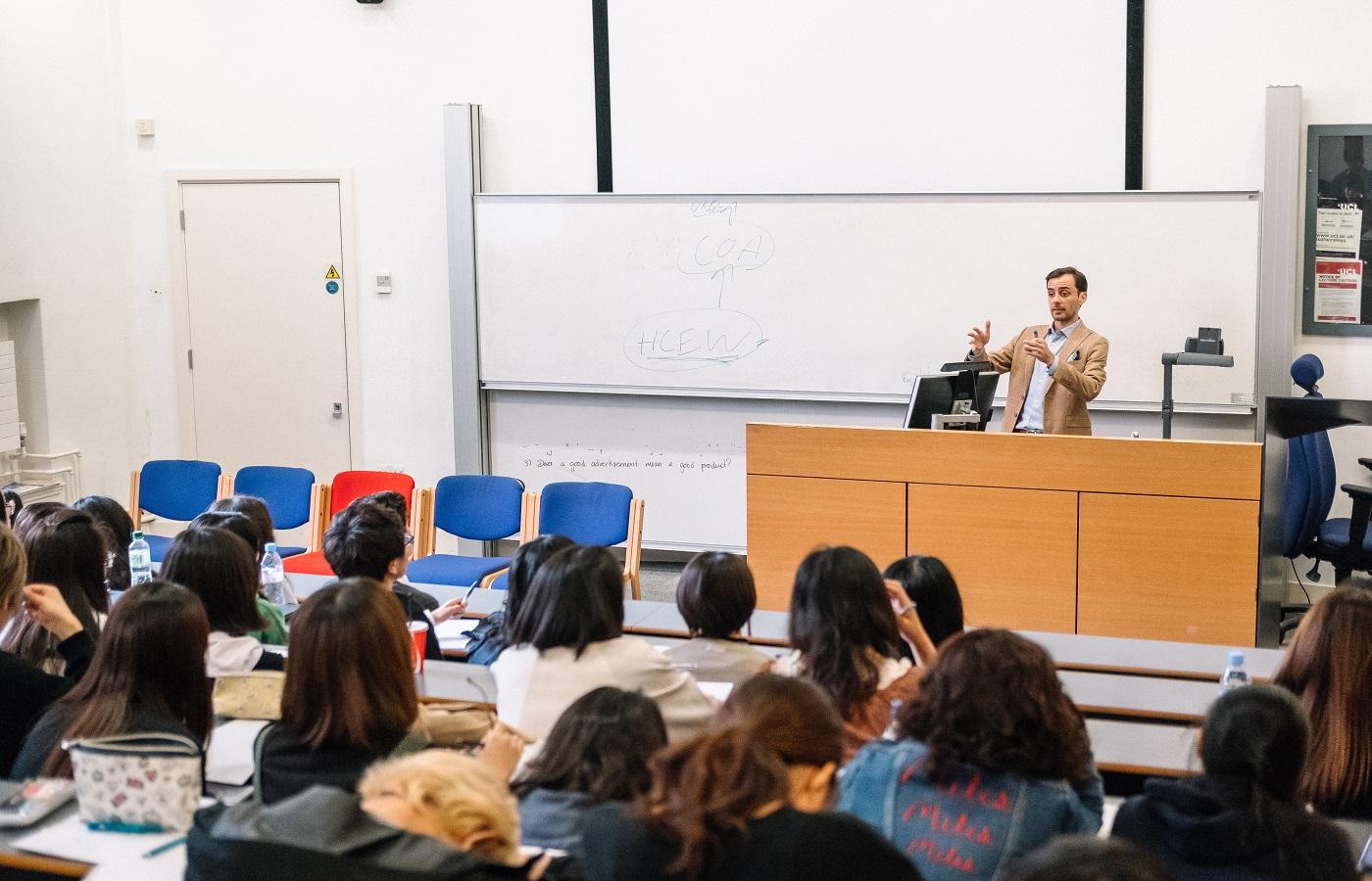 UCL Summer English Course students in a lecture