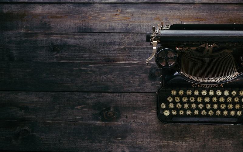 Typewriter on some wood