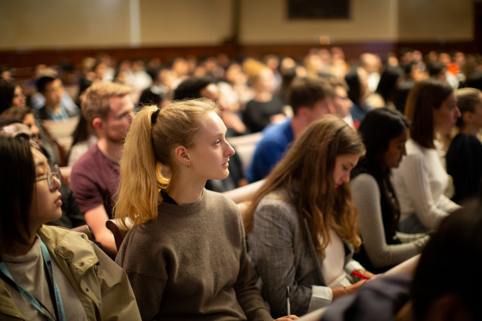 Students at the LLM induction talk 2019
