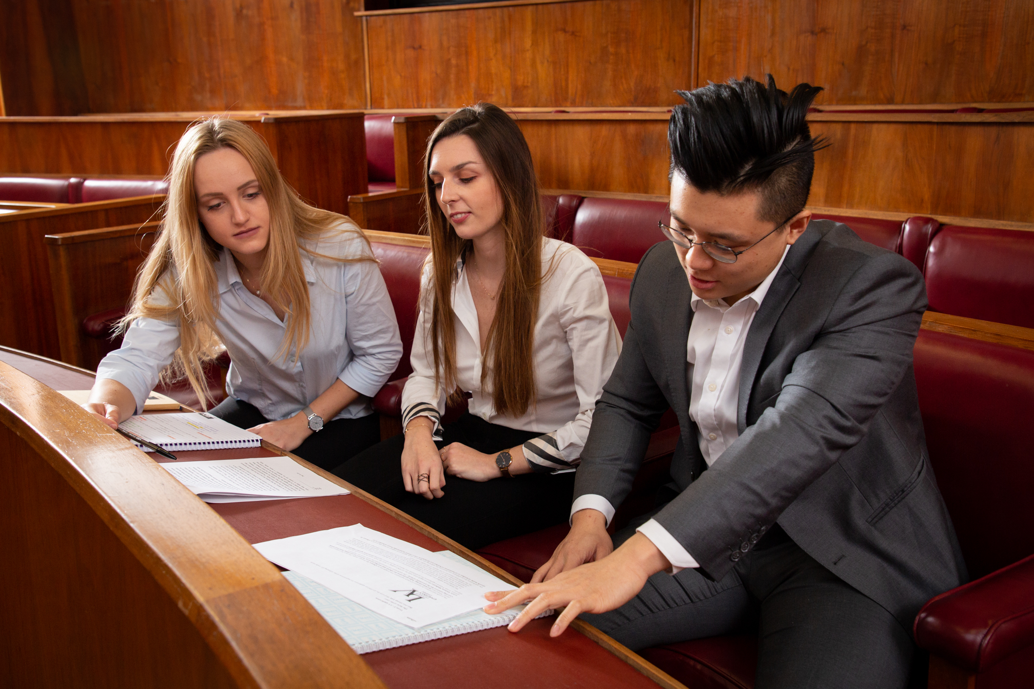 LLM students at the Moot Court