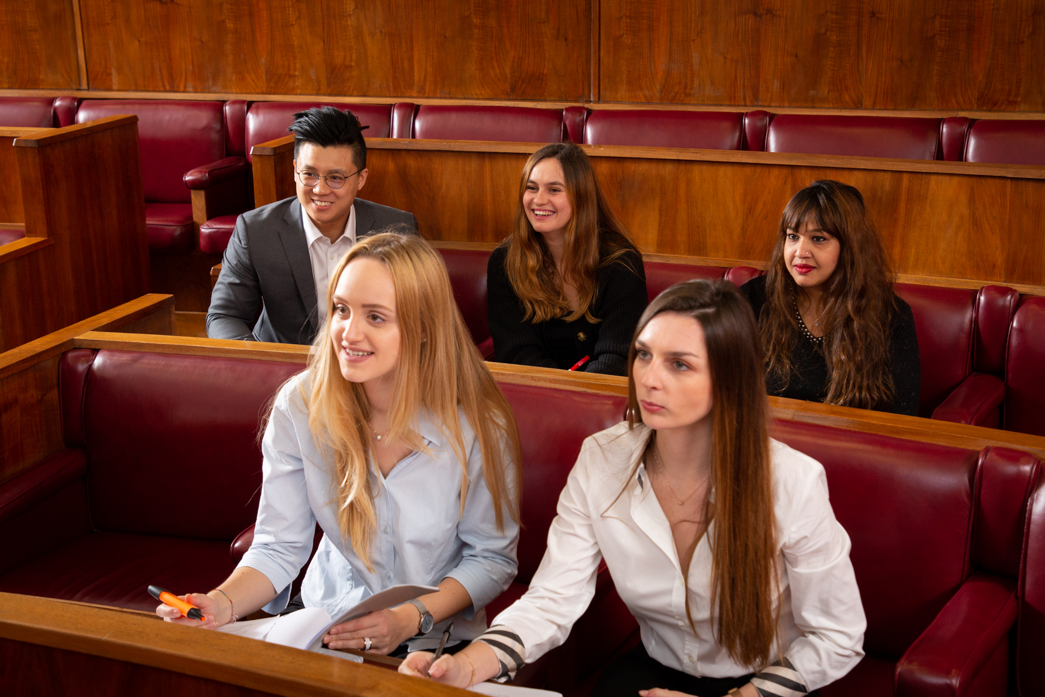 UCL Graduate Law Society mooting in the Moot Court