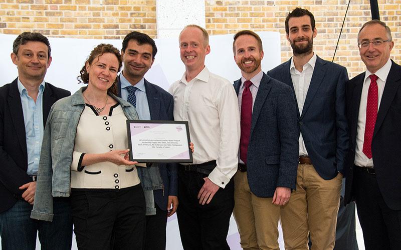 Public International Law Pro Bono Project receive award