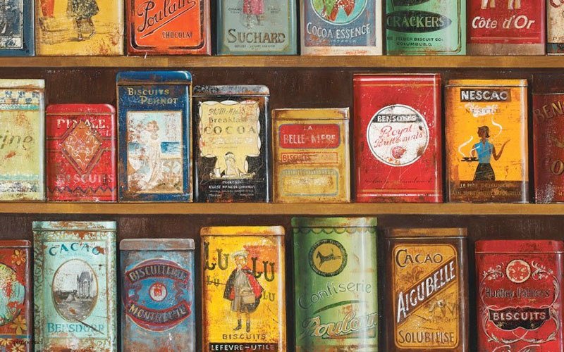 Vintage tins - the shape of things to come