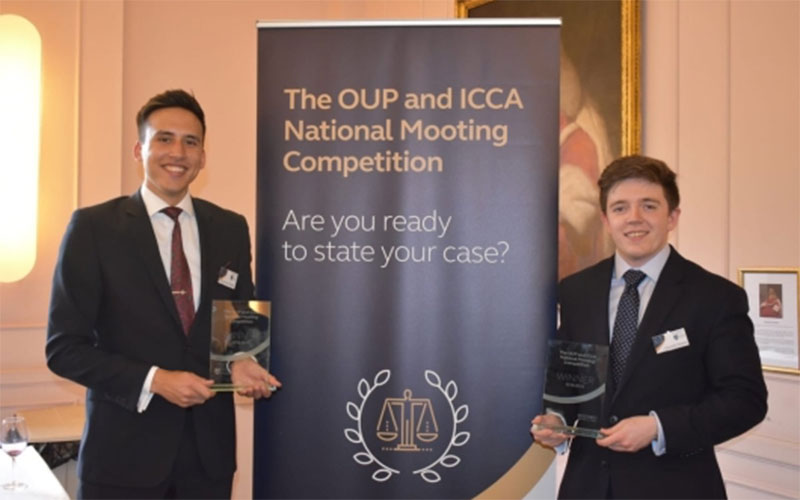 UCL Laws LLB students win the 2019 OUP / ICCA National