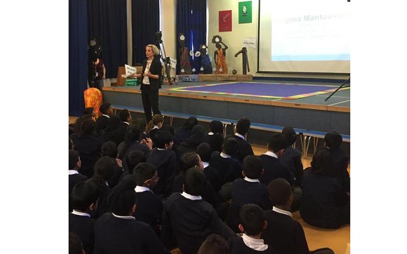Professor Virginia Mantouvalou speaks at Yeading School