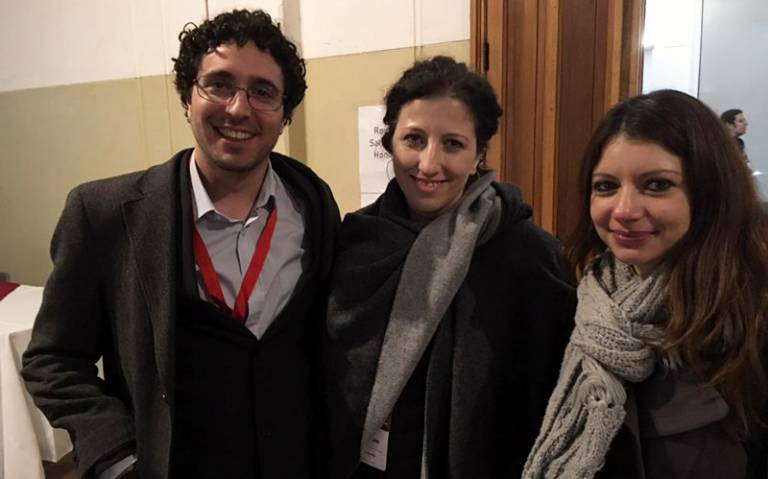 3 out of the 4 UCL Laws PhD students at the LLRN conference in Chile