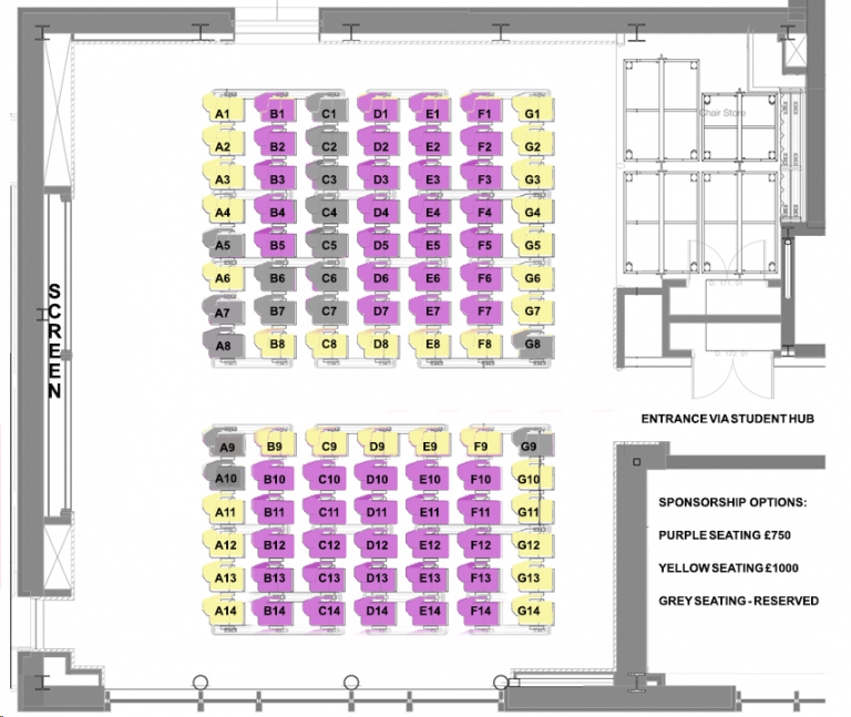 Gideon Schreier lecture theatre seating plan