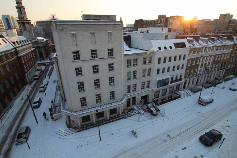 Bentham House in the snow