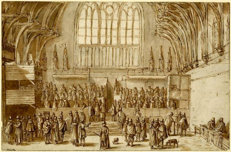 Drawing of Westminster Hall