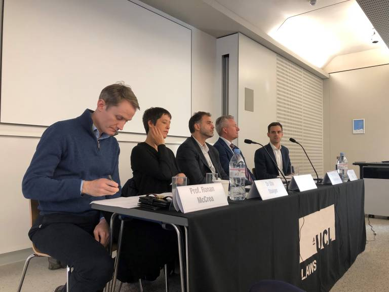 Panel at the UCL Laws staff/student research seminar on the law and politics of Brexit