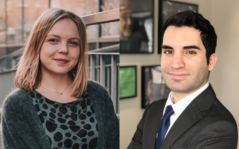 Image of UCL Laws students emma ziegler steen and konstantinos kaouras