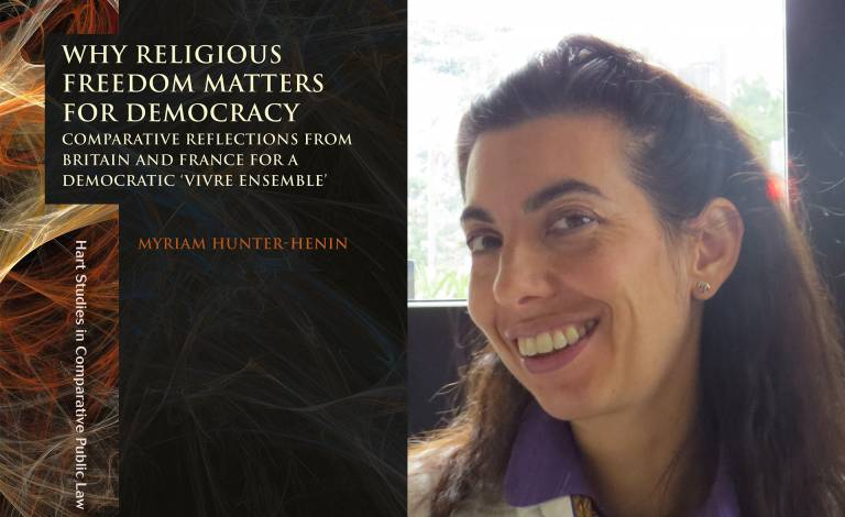 Image of book cover and Myriam Hunter Henin