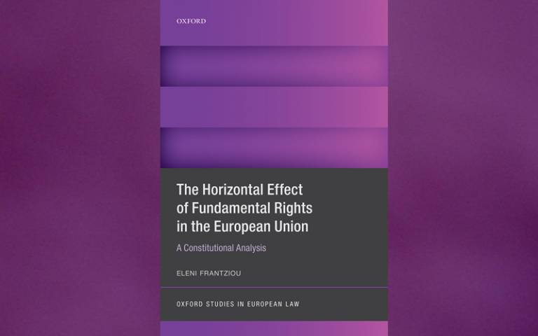 Image of book cover of The Horizontal Effect of Fundamental Rights in the European Union by Eleni Frantziou