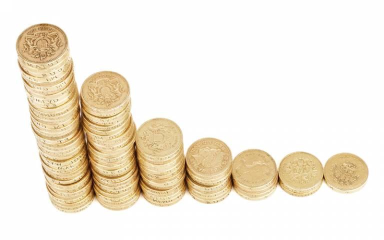stacks of coins in increasing order