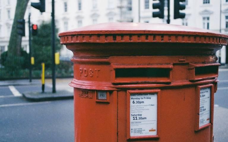 London red post box