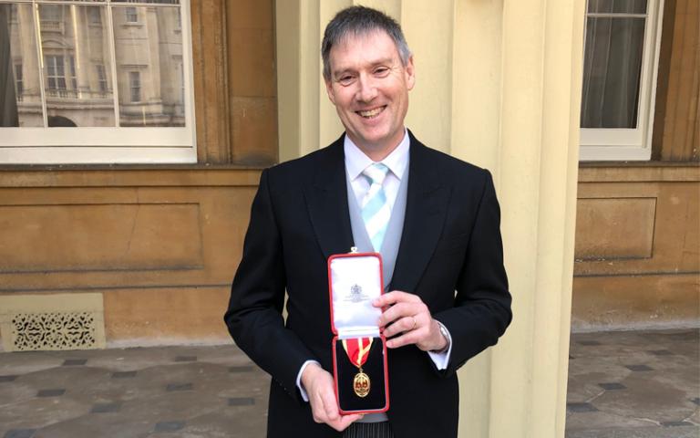 Professor Sir Jonathan Montgomery receives knighthood at Buckingham Palace