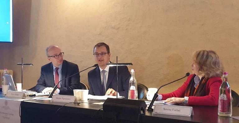 Dr Martins Paparinskis gives the inaugural Sereni Lecture at Bologna