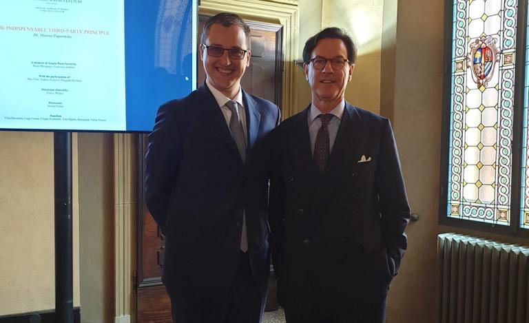 Dr Martins Paparinskis with Professor Attila Tanzi