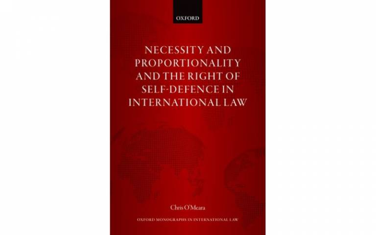 Cover of Necessity and Proportionality and the Right of Self-Defence in International Law