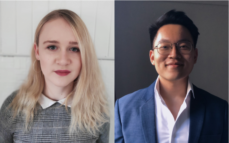 Image showing Nicole Pearson and Ming Hao Tay, LLB students