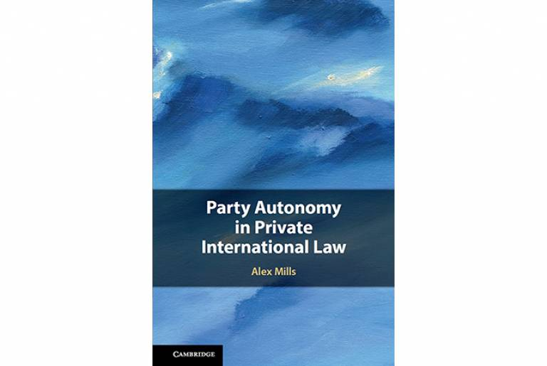 Cover of Party Autonomy in Private International Law