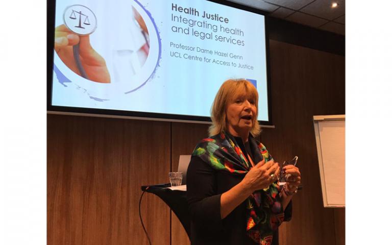 Professor Dame Hazel Genn at World Justice Forum