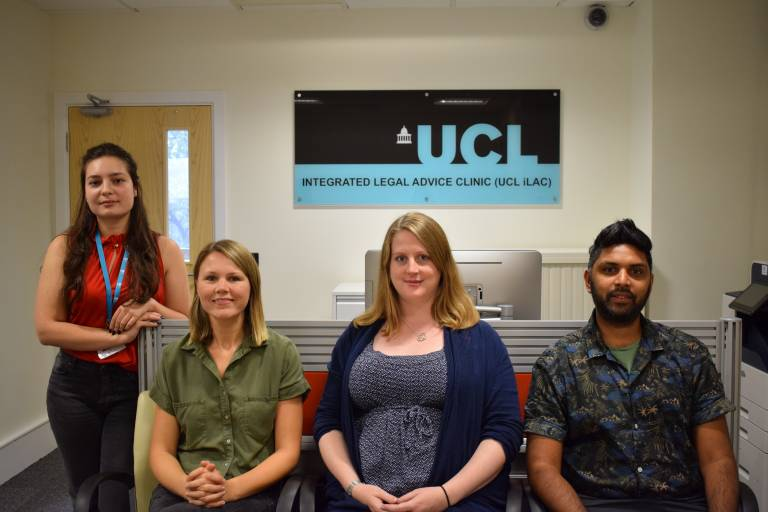 Team at UCL Integrated Advice Clinic