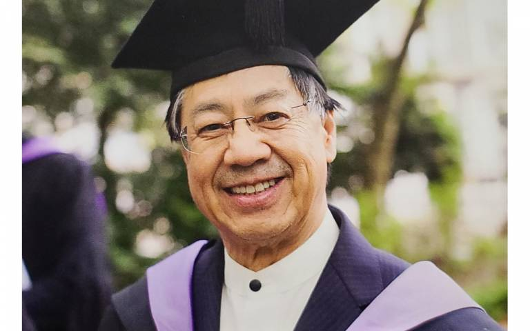Vincent Cheung at Laws graduation ceremony