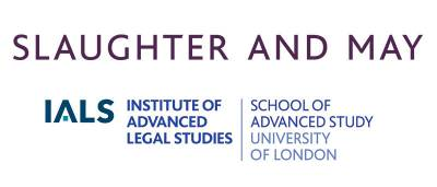 Logos of Slaughter and May llp and IALS