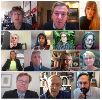 Screenshot of 14 people as part of the tributes to Sir Robin